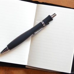 Notebook and pen - Urve Tamberg for writers